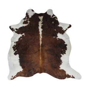 Brązowo-biała skóra bydlęca, 210x185 cm