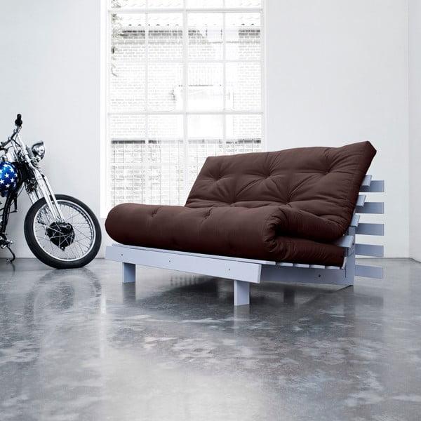 Sofa rozkładana Karup Roots Cool Gray/Brown