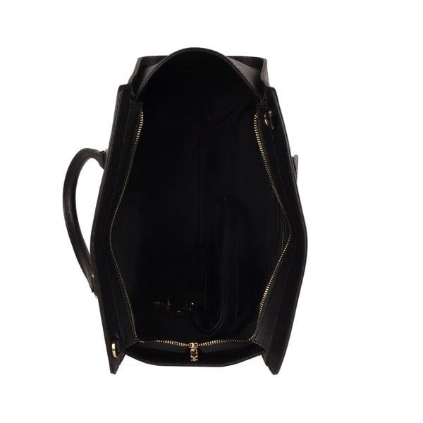 Skórzana torebka Emilio Masi Harbour, czarna