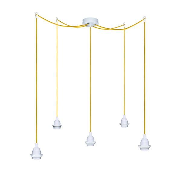 Pięć wiszących kabli Uno+, żółty/biały