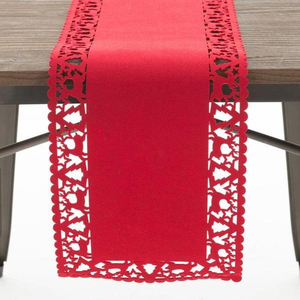 Bieżnik Felt Xmas Red, 30x120 cm