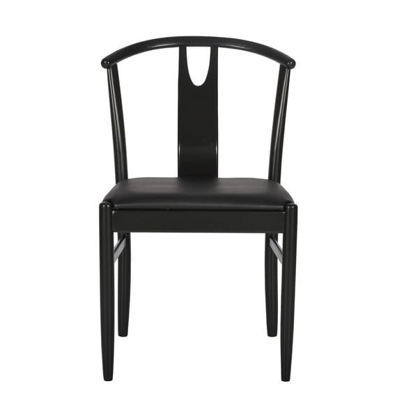 Zestaw 2 czarnych krzeseł RGE Hugo