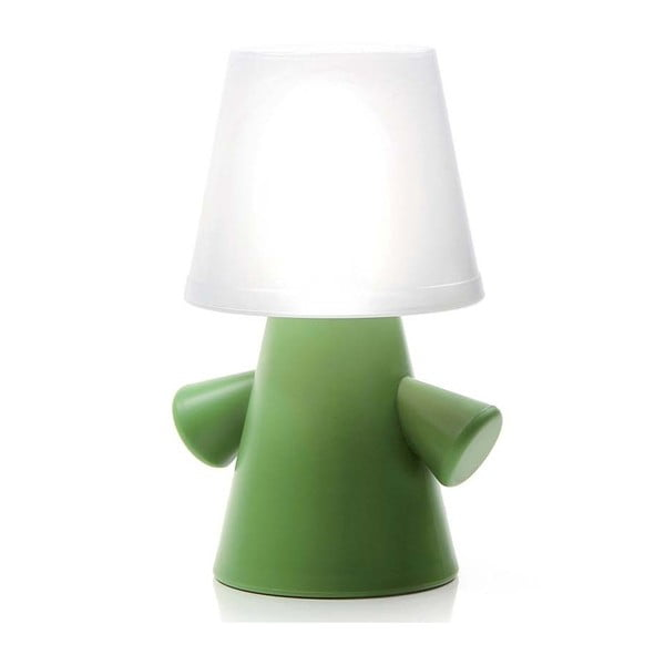 Solarna lampa ogrodowa Greenman, zielona