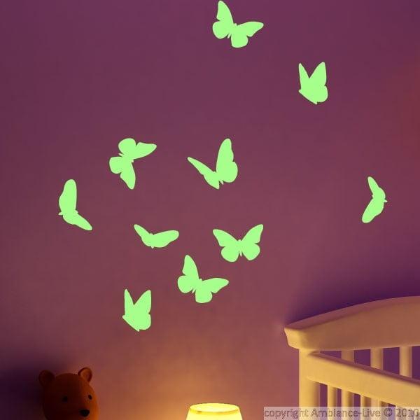 Naklejka świecąca w ciemności Ambiance Butterflies