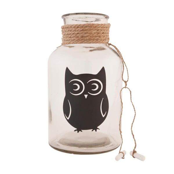 Szklany pojemnik Clayre & Eef Owl