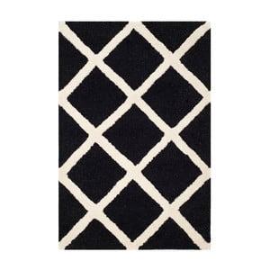 Dywan wełniany Sophie Black, 91x152 cm
