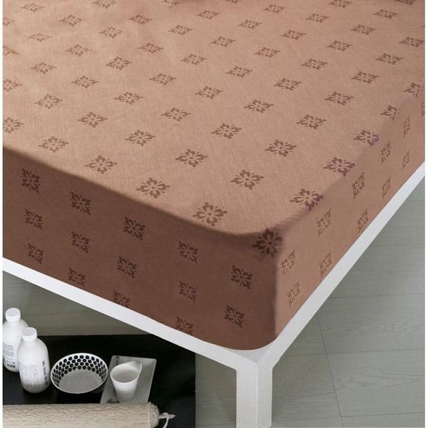 Prześcieradło Home Chocolate, 160x200 cm