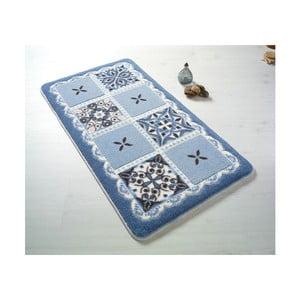 Niebieski dywanik łazienkowy z motywem rozgwiazdy Confetti Ceramic, 570x100 cm