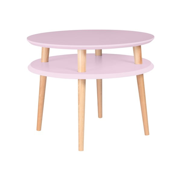 Różowy stolik Ragaba UFO Ø 57 cm
