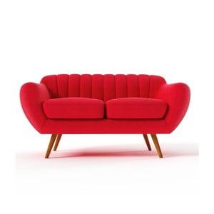 Sofa dwuosobowa Azzurre, czerwona