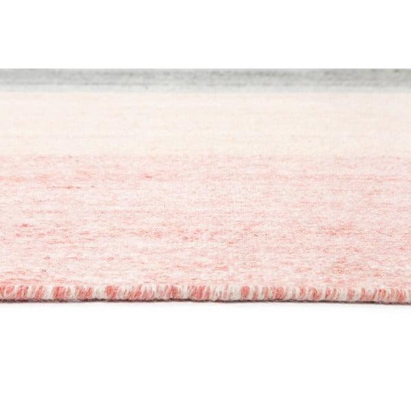 Wełniany dywan Pulvis Pink, 140x200 cm
