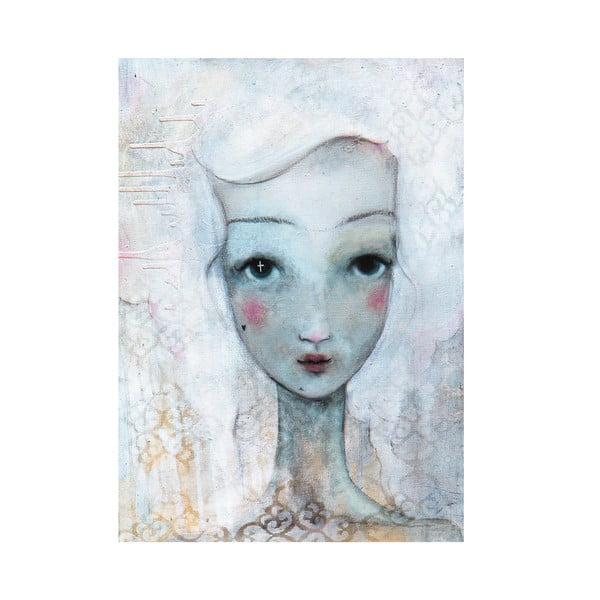 Autorski plakat Lény Brauner W błękicie, 60x80 cm