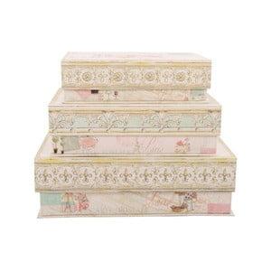 Zestaw 3 pudełek Sweet Paris