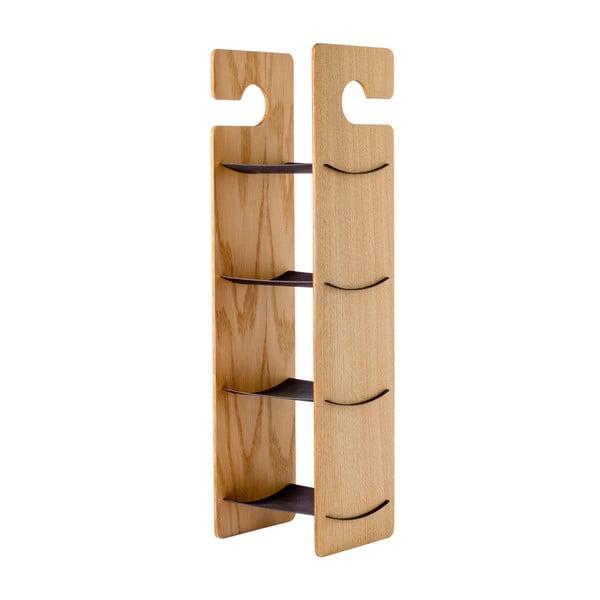 Półka wisząca/stojąca Smardrobe 59x15 cm, czerń i dąb