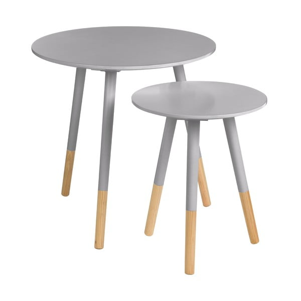 Zestaw 2 stolików Viborg Grey