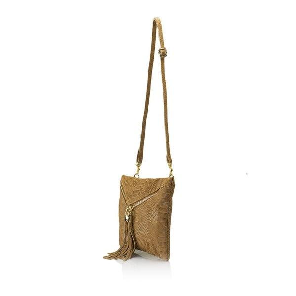 Koniakowa torebka skórzana Giulia Massari Erinn