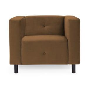 Brązowy fotel Vivonita Milo