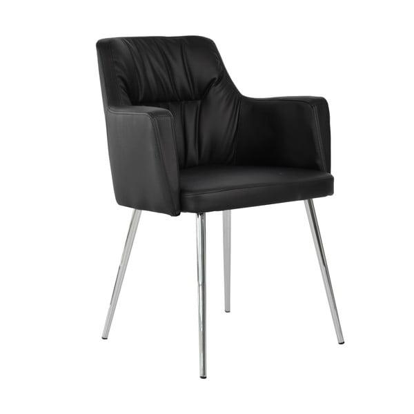 Czarne krzesło do jadalni RGE Mars