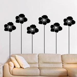 Naklejka ścienna Kwiaty z łodygami, 90x60 cm