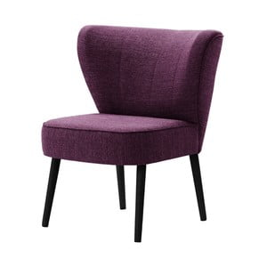 Fioletowy fotel z czarnymi nogami My Pop Design Adami