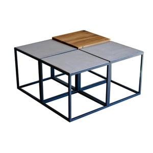 Stolik z blatem z drewna dębowego z recyklingu i betonu FLAME furniture Inc. Module