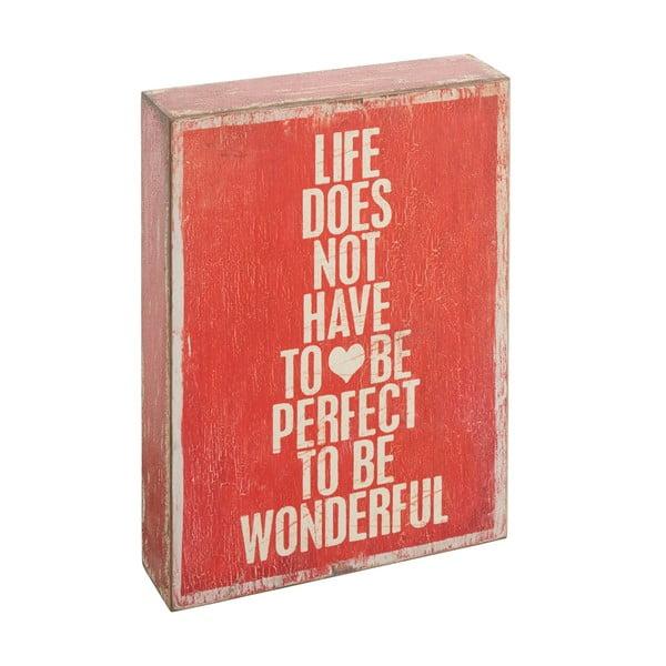 Napis dekoracyjny Not To Be Perfect