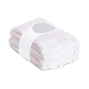Komplet 2 jasnoróżowych ręczników o splocie waflowym Casa Di Bassi, 65x100 cm