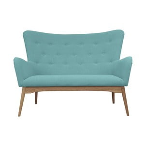 Turkusowa sofa dwuosobowa Helga Interiors Karl