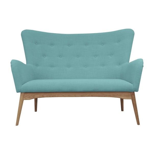 Turkusowa sofa 2-osobowa Helga Interiors Karl