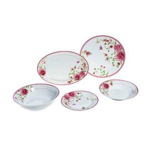 Porcelanowe naczynia Pink Rose, 20 szt.