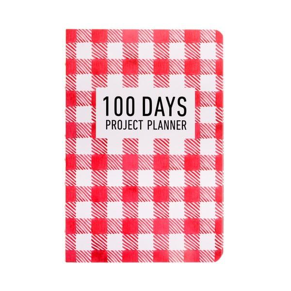 Organizer Languo 100 Days Pattern, czerwony