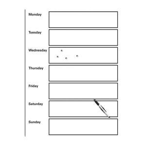 Tablica magnetyczna do pisania z markerem i 4 magnesami Eurographics My Week