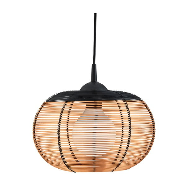 Lampa wisząca Searchlight Cage, miedziana