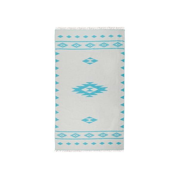 Dwustronny ręcznik hammam Alpha, turkusowy