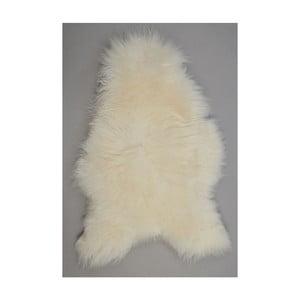 Owcza skóra z długim włosem White, 100x60 cm
