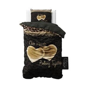 Pościel z mikroperkalu Sleeptime Our Hearts, 140x220cm