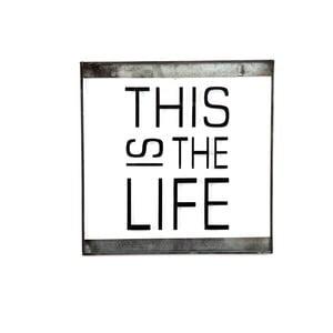 Szklana tabliczka z napisem This, 30x30 cm