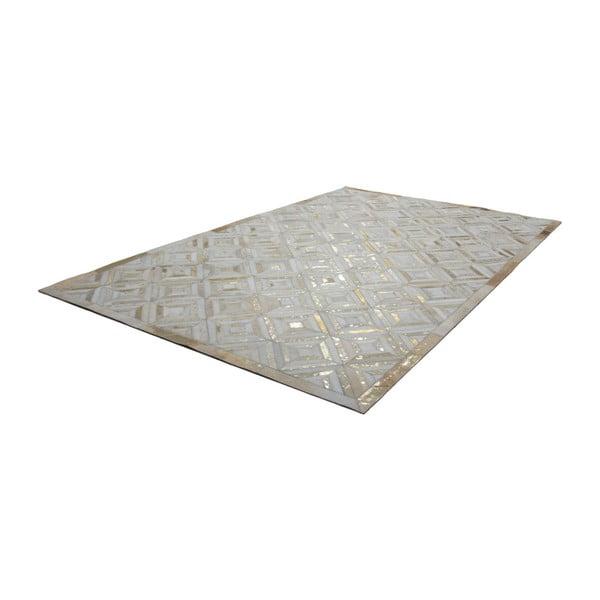 Złoty skórzany dywan Daz, 160x230cm