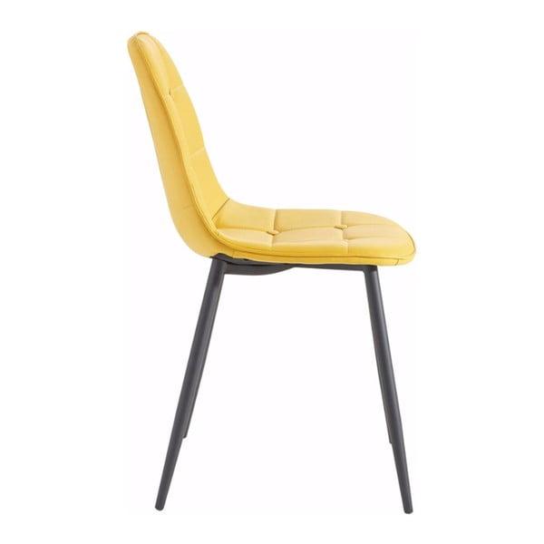 Zestaw 2 żółtych krzeseł Støraa Lamar