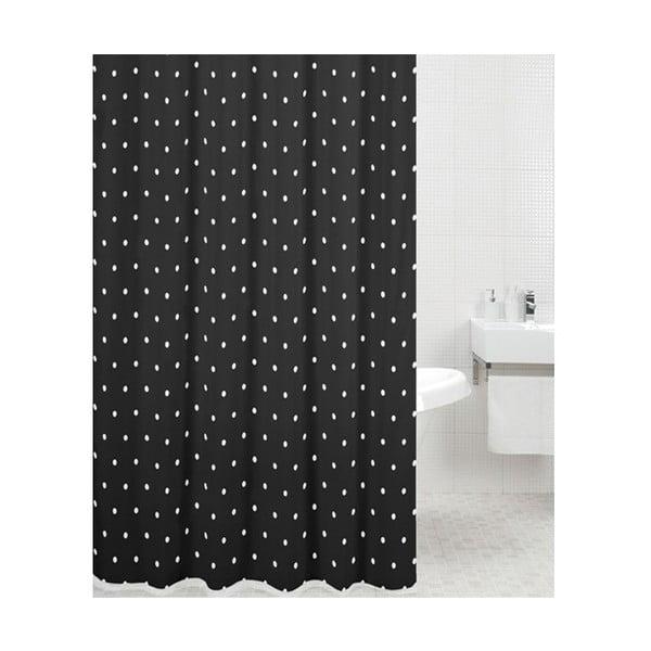 Zasłona prysznicowa Black Spot, 180x180 cm