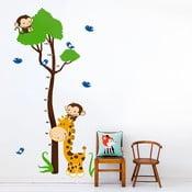 Naklejka ścienna Drzewo i zwierzątka, 90x60 cm