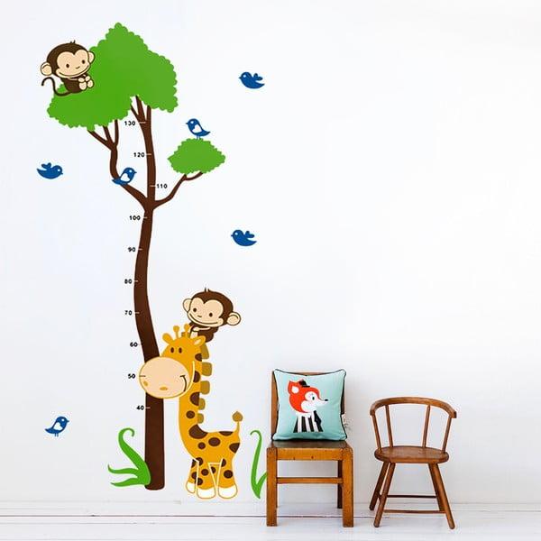 Naklejka ścienna Drzewo i zwierzątka, 60x90 cm
