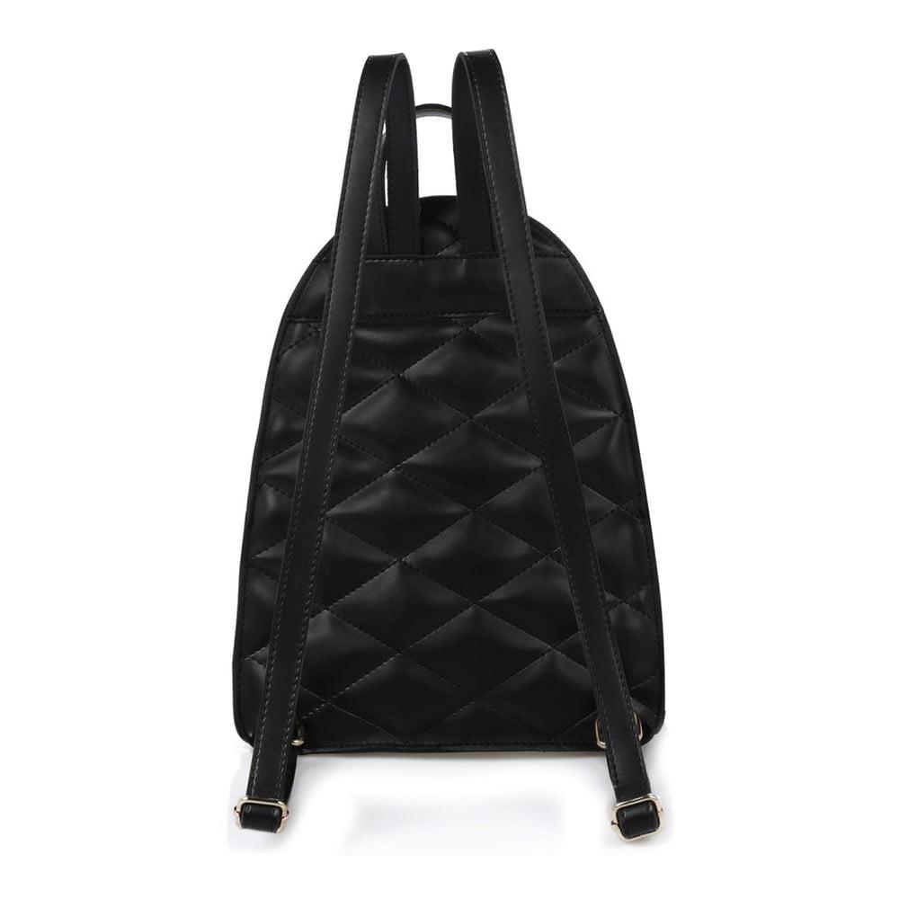 f194ab8a809dc Czarny plecak ze skóry ekologicznej Beverly Hills Polo Club Fran ...