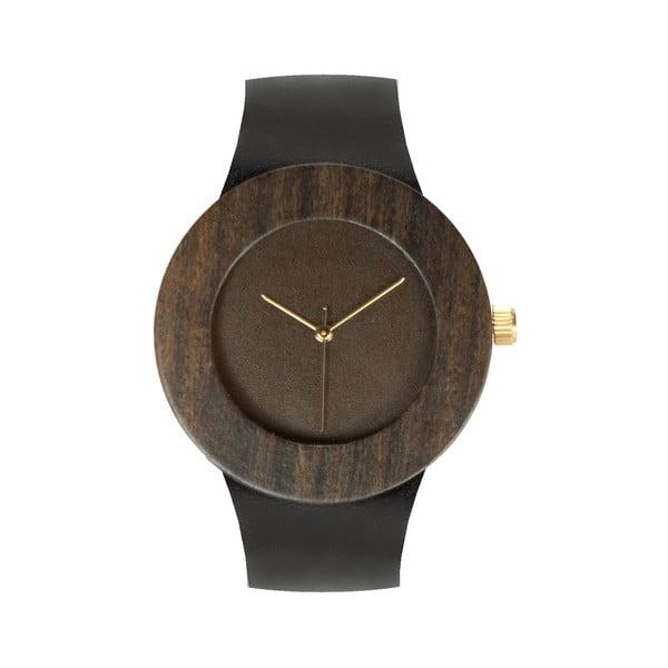 Drewniany zegarek Analog Watch Co. Leather & Blackwood