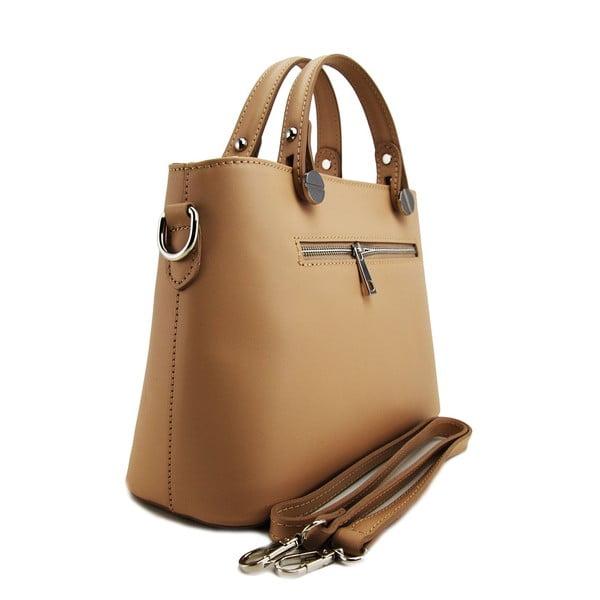 Skórzana torebka Adelaide Taupe