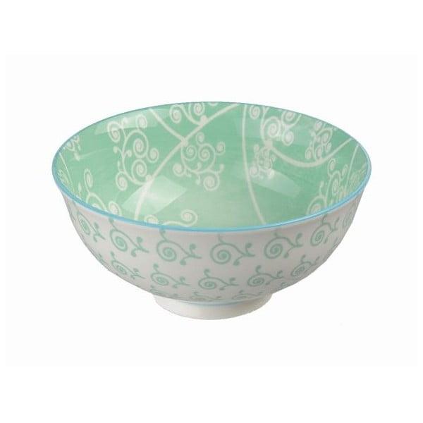 Porcelanowa miska Orient Green, 12x5,6 cm