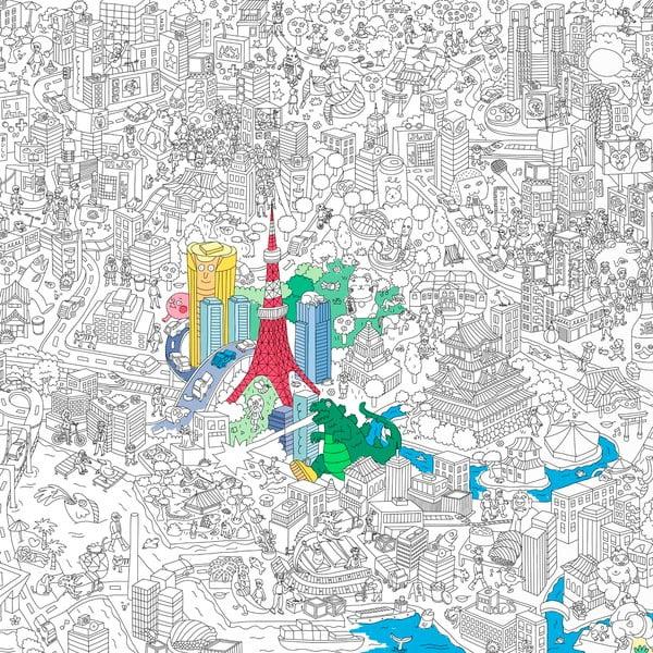 Kolorowanka Tokyo, XXL