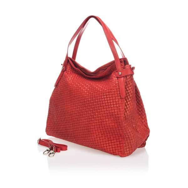 Czerwona torebka skórzana Markese Giacinto