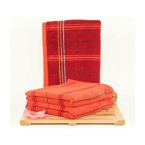 Zestaw 3 ręczników Gary Bordeaux, 50x100 cm