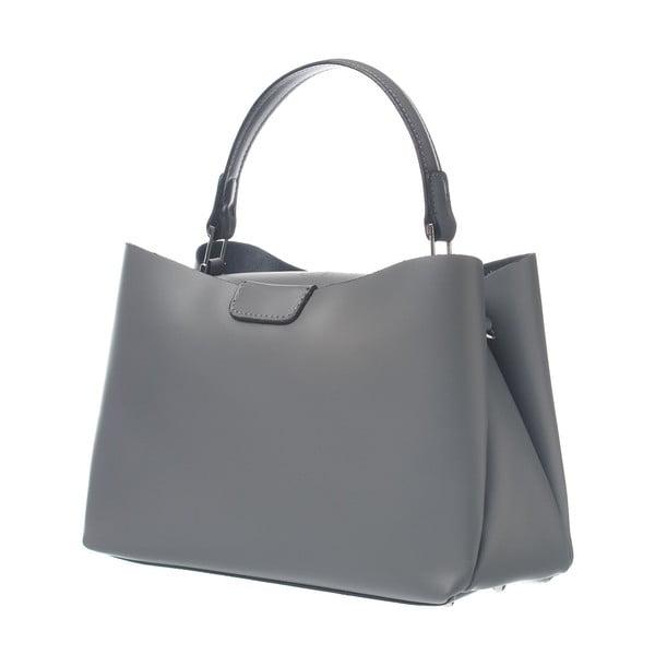 Skórzana torebka Miss Town Grey
